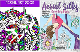 Adult Aerial Arts Colouring Book