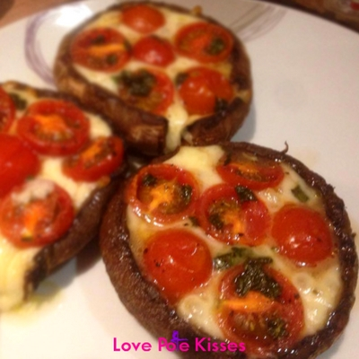 Vegetarian Caprese Stuffed Portabello Mushrooms
