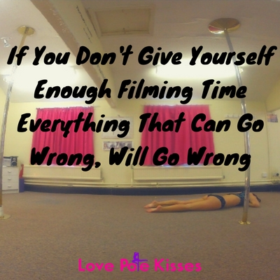 If you don't give yourself enough filming time everything that can go wrong, will go wrong